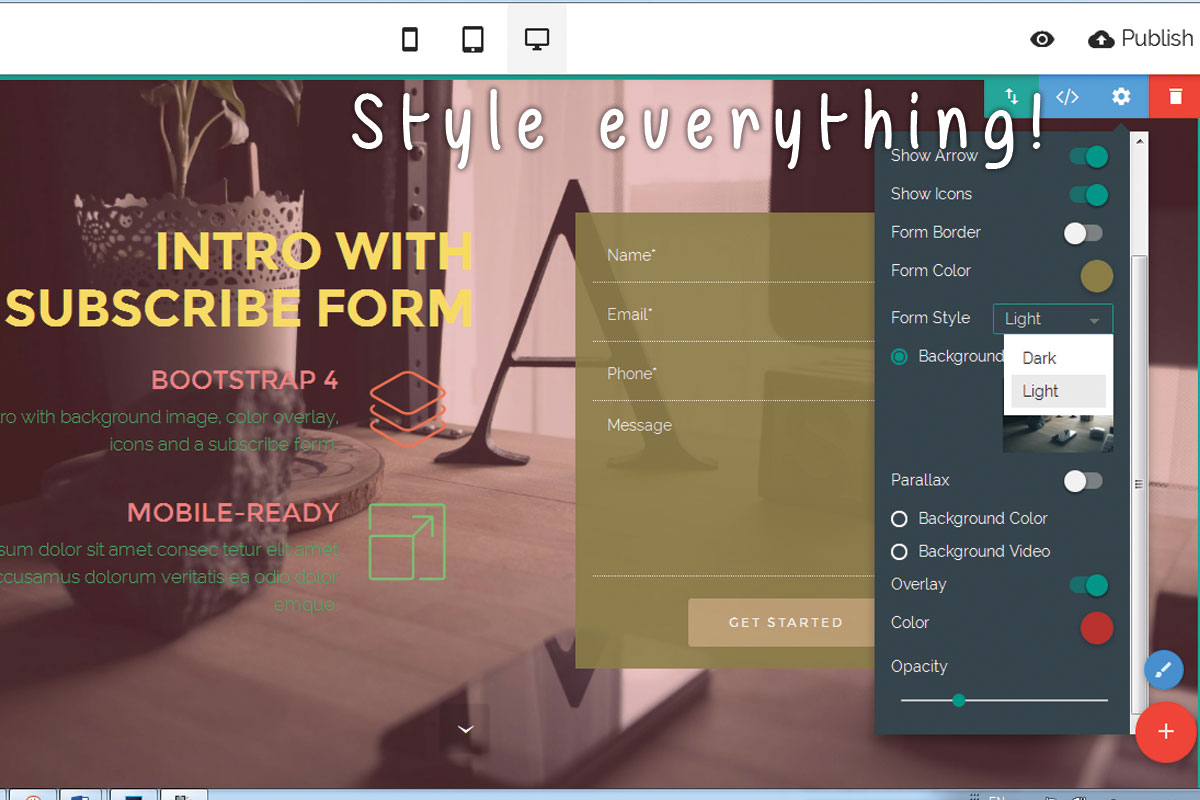 Responsive Web Page Creator Software