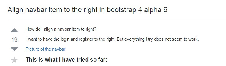 Coordinate navbar item to the right  inside Bootstrap 4 alpha 6