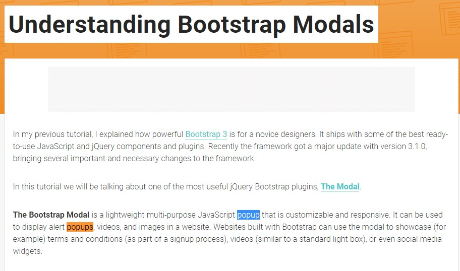 An additional  handy article  relating to Bootstrap Modal Popup