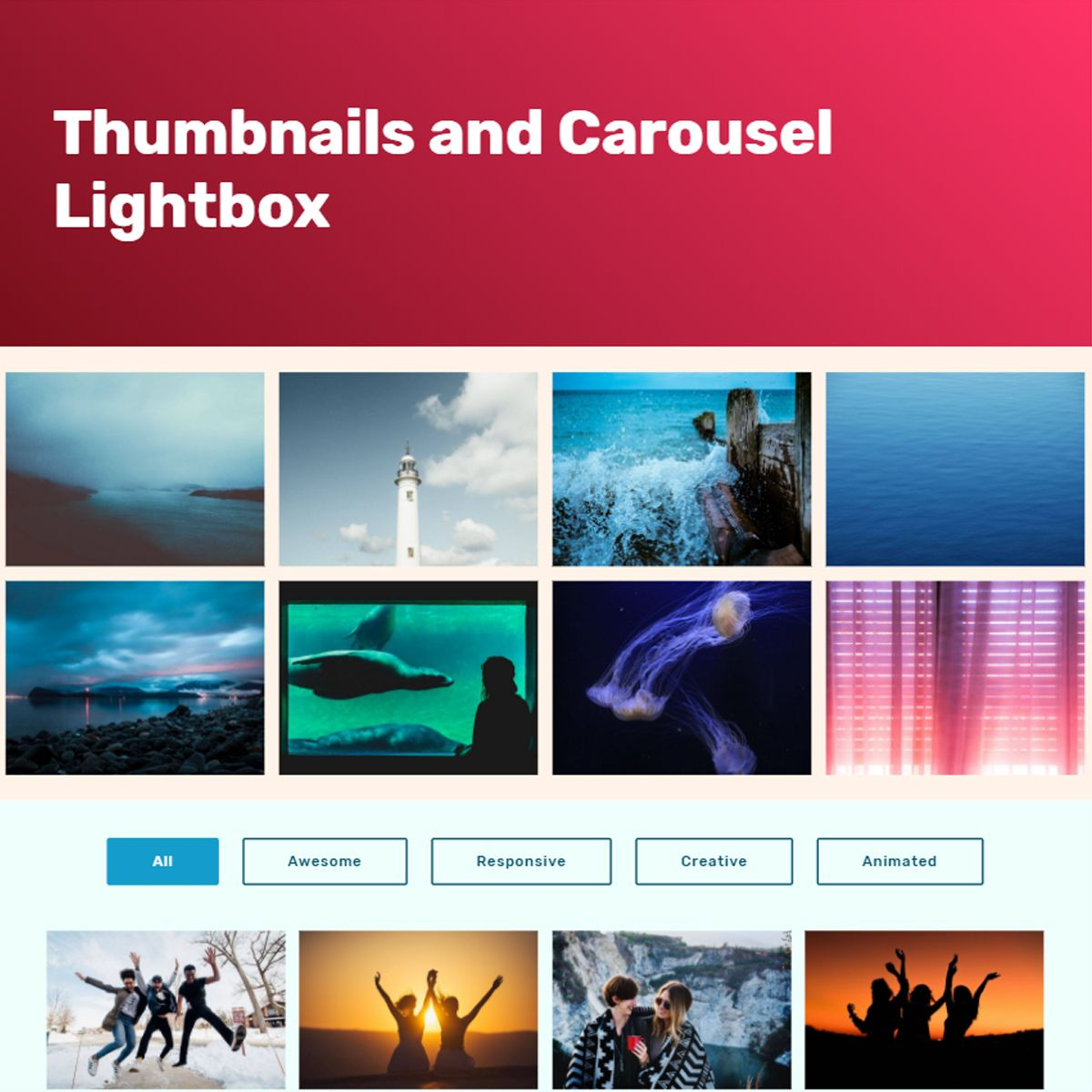 jQuery Bootstrap Image Slideshow