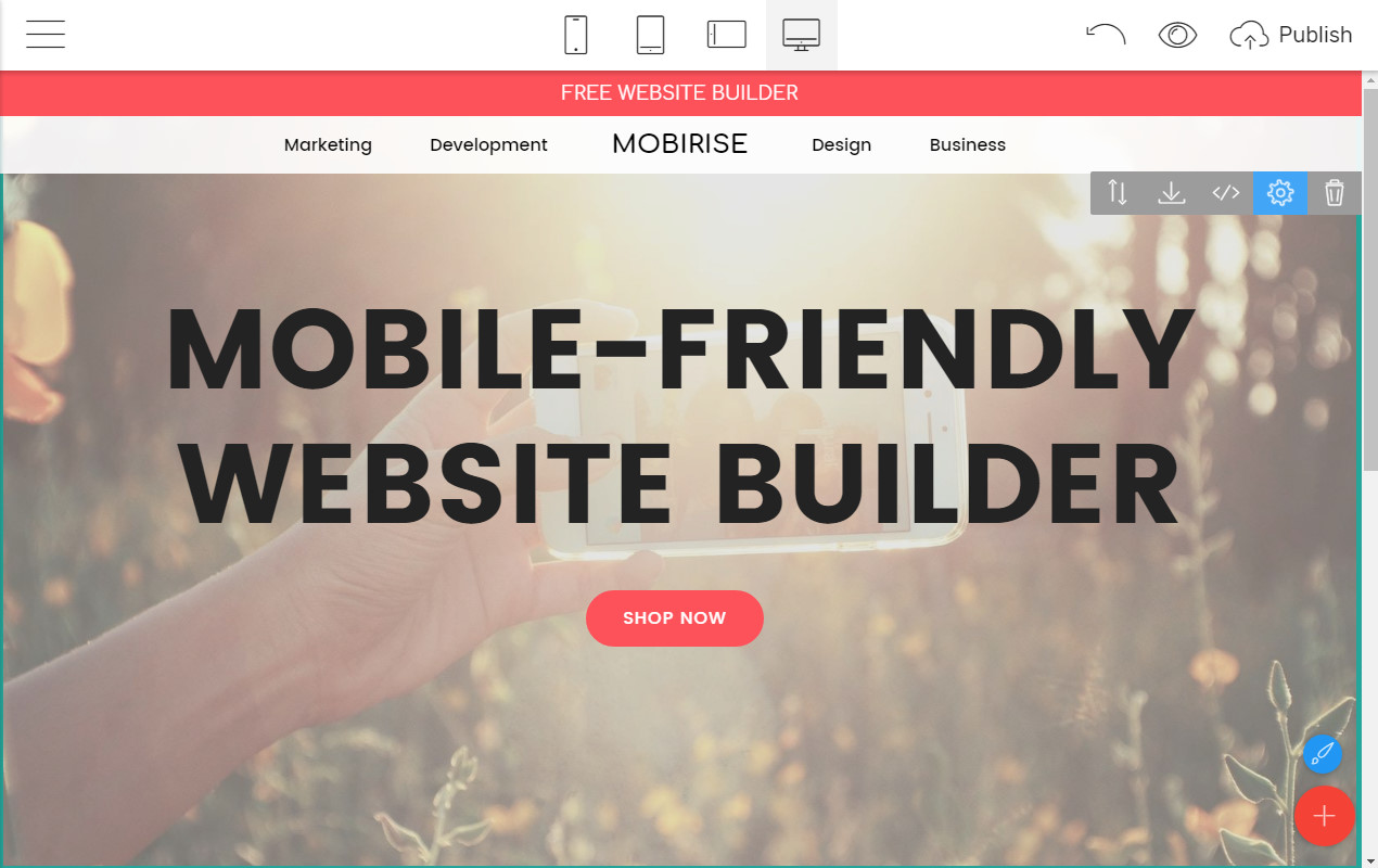 Mobile-friendly Page Maker